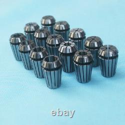 NEW 14Pcs ER20 Spring Collet Set 1/16-1/2 CNC Super Precision 3/8 1/4 1/8