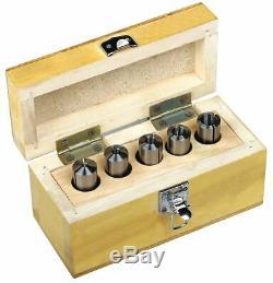 Optimum Round Collet Set, MT2,3/8in-16, 5 Pcs 3351980
