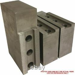 PH-8301F STEEL SOFT JAWS FOR 1/16 x 90° SERR 8 CHUCK WithA 3 HT 3PCS SET