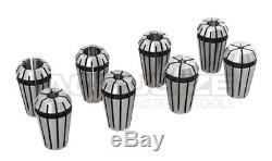 R8 Shank + 8 Pcs/Set ER16 Collet System + Wrench in Fitted Box, #0223-0944
