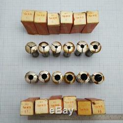 SCHAUBLIN W-20 W20 Collet Set 1 (12 pcs) 4-16mm for Schaublin, Aciera Lathe