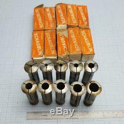 SCHAUBLIN W-20 W20 Collet Set 2 (10 pcs) 4-16mm for Schaublin, Aciera Lathe
