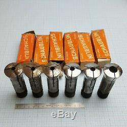 SCHAUBLIN W-25 W25 Collet Set 2 (6 pcs) 7.5-15mm for Schaublin, Aciera Lathe