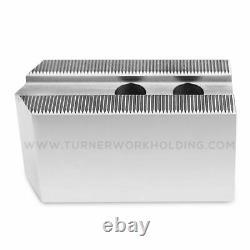 Soft Jaw Set (3 Pcs) for 8 Kitagawa B-208 Samchully Chuck-1.5 ht, Steel, Pointed