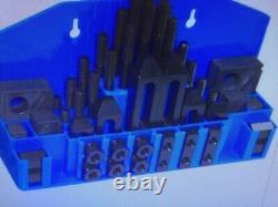 TE-CO 20402-PL, CLAMP & STEP BLOCK SET, 1/2 to 13 Studs, 5/8 Thread, 52-pcs/SET