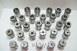 TG100 COLLET SET 1/8 1 BY 32nds. 29 PCS. TG 100 COLLETS kennametal and others
