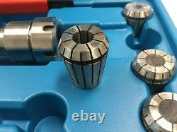 USED-12 Pcs/Set ER32 Collet + R8 Bridgeport Shank + Wrench in Fitted Box