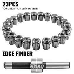 VEVOR Collet Set Collet Chuck 23PCs ER40 Workholding Collets 3-25 mm for Milling