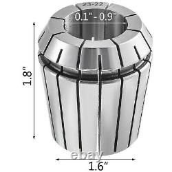 VEVOR Precision ER40 Collet Set 23PCs Collet Chuck 3-25 mm for CNC Milling Lathe