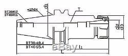 ZLIVECENTER BT30 ER16 MILLING COLLET CHUCK SET 8 PCs PROJ. 2.76 BAL. 25,000RPM