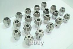 ZZ UNIVERSAL ENGINEERING COLLET SET 21 pcs 3/8 1 BY 32nds great condition